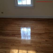 Floor refinishing after 3